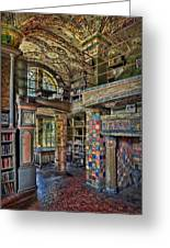 Fonthill Castle Library Room Greeting Card