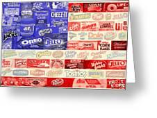 Food Advertising Flag Greeting Card