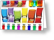 Food Coloring Ensemble Wide-rainbow Theme Greeting Card