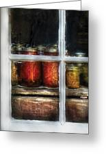 Food - Country Preserves  Greeting Card by Mike Savad
