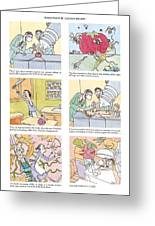 'food Fight' Greeting Card