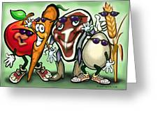 Food Groups Party Greeting Card
