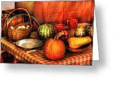 Food - Nature's Bounty Greeting Card by Mike Savad