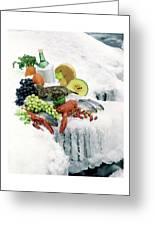 Food On Ice Greeting Card