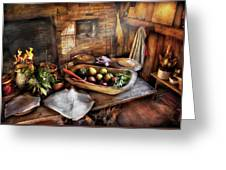 Food - The Start Of A Healthy Meal  Greeting Card by Mike Savad