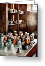 Food - The Winter Pantry  Greeting Card by Mike Savad
