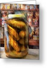 Food - Vegetable - A Jar Of Pickles Greeting Card