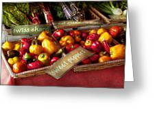 Food - Vegetables - Sweet Peppers For Sale Greeting Card