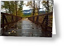 Foot Bridge In Grand Teton Greeting Card