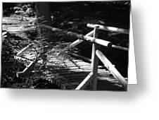 Foot Bridge Greeting Card