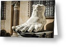Foot Of Constantine Greeting Card