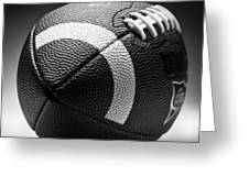 Football Black And White Greeting Card