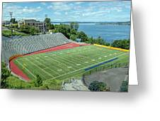 Football Field By The Bay Greeting Card
