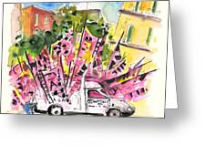Football Flags From Palermo Greeting Card