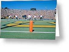 Football Game, University Of Michigan Greeting Card