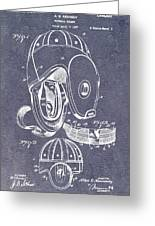 Football Helmet Patent Greeting Card