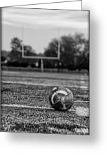 Football In Black And White Greeting Card