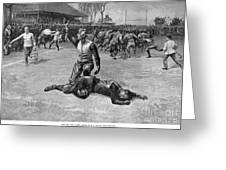 Football Injury, 1891 Greeting Card