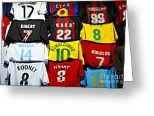 Football Shirts Inside The Grand Bazaar In Istanbul Turkey Greeting Card