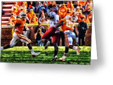 Football Time In Tennessee Greeting Card