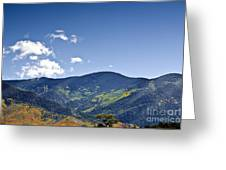 Foothhills Of The Sandia Mountain Range New Mexico Usa Greeting Card