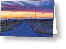 Foothill Sunset Greeting Card