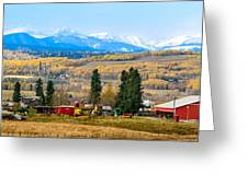 Foothills' Farming Country Greeting Card
