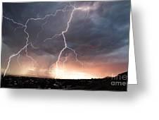 Foothills Strike Greeting Card