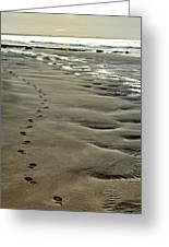 Footprints On The Beach Greeting Card