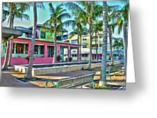For Myers Beach Restaurant Greeting Card