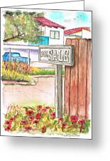 For Sale Sign In Goleta Beach, California Greeting Card