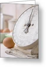 For The Baker Vintage Kitchen Scale  Greeting Card