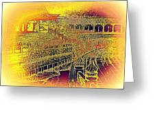 Forbidden City In Gold Greeting Card