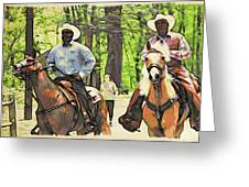 Forbidden Drive Cowboys Greeting Card