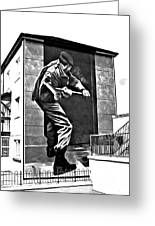 Forced Entry Derry Mural Greeting Card
