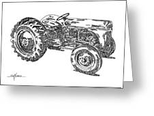 Ford 8n Tractor Greeting Card by Ken Nickle