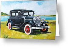 Ford A Tudor Sedan Greeting Card