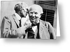 Ford And Edison, C1930 Greeting Card