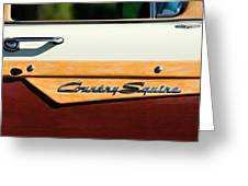 Ford Country Sedan Emblem Greeting Card