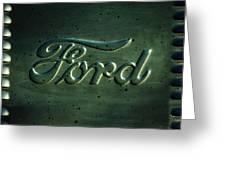 Ford Emblem -0113c Greeting Card