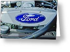 Ford Engine Emblem Greeting Card