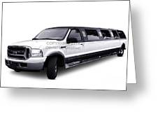 Ford Excursion Stretched Limousine Greeting Card