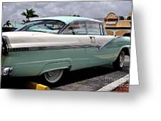 Ford Fairlane Profile Greeting Card by Andres LaBrada
