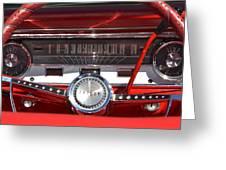 Ford Falcon Dash Greeting Card