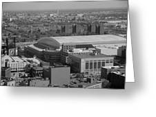 Ford Field Bw Greeting Card