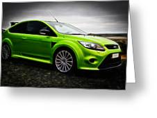 Ford Focus Rs Greeting Card by motography aka Phil Clark