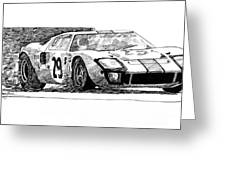 Ford Gt - 40 Greeting Card