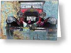 Ford Model A 1928 Oldtimer Greeting Card
