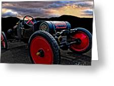 Ford Model T Racer Beat The Storm Home Greeting Card