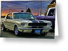 Ford Mustang At Sunset Greeting Card